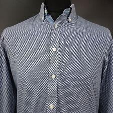 Tommy Hilfiger Mens Shirt MEDIUM Long Sleeve Blue SLIM FIT  Cotton