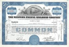The WESTERN  Pacific Railroad Compagny Certificate 25 shares  1946 (2456)