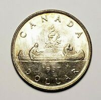 Canada 1937 Silver $1.00 One Dollar Coin
