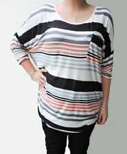 Viscose 3/4 Sleeve Machine Washable Striped Tops & Blouses for Women