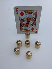 champagne cork miniature place holders  1970s era   set of 6