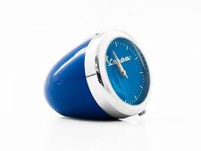 Vespa Headlight Style Retro Round Clock blue
