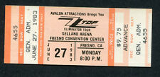 Original 1983 Zz Top Unused Full Concert Ticket Eliminator Tour Fresno Ca