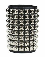 8 Row Pyramid Stud Bikers Punk Rockers Bracelet Grunge Glam Heavy Metal