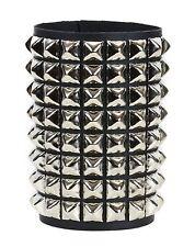 8 Row Pyramid Stud Bikers Punk Rockers Bracelet Grunge Glam Heavy Metal