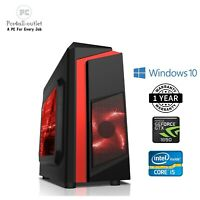 Fast Gaming Computer PC Intel Quad Core i5 16GB 1TB HDD Windows 10 GTX 1650 4GB