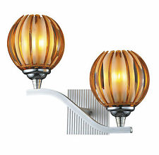 Modern Retro Vintage Pumpkin 2 Way Brown Acrylic Lamp Shade Wall Light Fixture