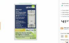 Leviton Decora 120277 Volt Ac Occupancy Pir Auto On Motion Sensor For Lights