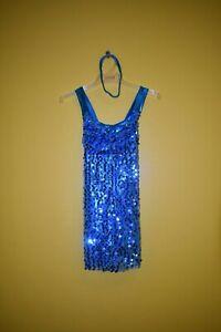 Childs Blue Sequin Dress