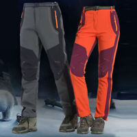 Men Couple Waterproof Windproof Outdoor Hiking Flat Winter Thick Pants Trousers
