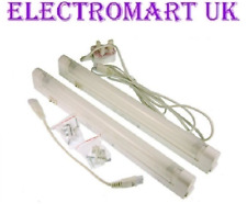2 PIECE UNDER CABINET KITCHEN FLUORESCENT STRIP LINK LIGHT FITTINGS