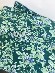 "Laura Ashley King Pillow Shams Brambleberry Green Floral 25 X 30"""