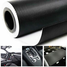 "67"" x 12"" Black 3D Carbon Fiber Vinyl Car DIY Wrap Sheet Roll Film Sticker Decal"