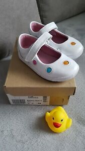 Clarks Emery Dot T Baby Shoes Size UK5 EU21 White