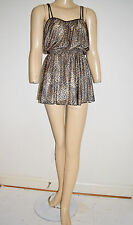 Vintage 60's Mod Deweese Skirted Swimsuit Bathing Suit Romper Size Small 34 Bra