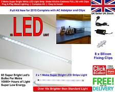 2 Metre Super Bright White LED Light Strip for Under Kitchen Cabinets FULL Kit