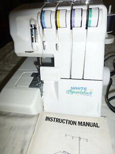 White Superlock Electronic  Serger Sewing Machine W/Foot Controller
