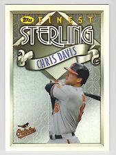 CHRIS DAVIS 2014 Topps Finest Baseball Sterling Card #TS-CD Orioles