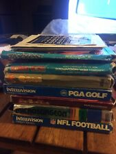 7 Intellivision Games Lot: Donkey Kong, Qbert, Zaxxon And More