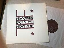 LP NEW ORDER Fact 50 1981 Movement Factory orig USA '81 joy division vinyl RARE