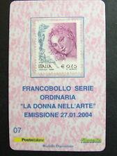 2004   Italia  Tessera Filatelica  La donna nell'Arte   0,45