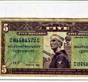 "$5 ""MILITARY PAYMENT"" (SERIES 681)  $5 ""MILITARY PAYMENT"" (SERIES 681) RARE !!!!"