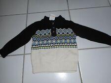 Nwt Gymboree Boy 12 18 M Fair Isle Pullover Sweater Cream Black Easter