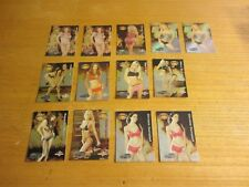Mary Riley +12 Models Lot of 13 2003 Bench Warmer Hotties Insert Trading Cards