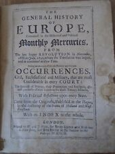 1692 Politics 'General History of Europe - Monthly Mercuries' Government