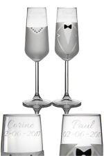 bruiloft cadeau twee champagneglazen met naam
