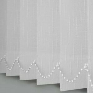 Vertical blinds non blackout spring white pattern Made to Measure up to 400cm
