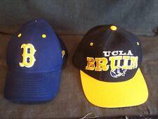 two UCLA Bruins baseball caps - New Era Concealer size 7 1/8 & Starter 100% wool