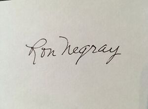 Ron Negray LA/Brooklyn Dodgers Phillies Autographed 3x5 Index Card Signed