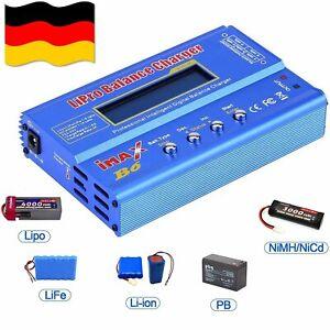 80W IMax B6 AC Netzteil Ladegerät Batterie Balance Charger LiPo Dual Power DE