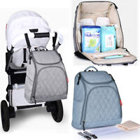 Baby Nappy Backpack Bag Diaper Changing Bag Mummy Bag Insulated Multifunction