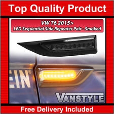 VW T6 TRANSPORTER DYNAMIC LED SEQUENTIAL SMOKED SIDE REPEATER SIGNAL INDICATOR