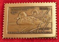 Bronze 1990 Lesser Scaup Federal Duck Stamp bronze Medallion