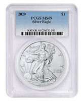 2020 1 oz American Silver Eagle $1 Coin PCGS MS69 SKU59490