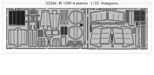 Eduard 1/32 Messerschmitt Bf109F-4 ESTERNO IN KIT HASEGAWA # 32266