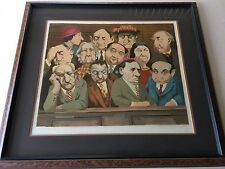 """The Jury"" Charles Bragg Color Serigraph, Numbered & Signed, 140/300, Framed COA"