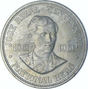 Better Date - 1961 Philippines 1 Peso - SILVER *595