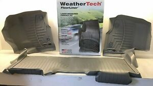 2017-2019 Ford Super Duty SuperCab Rear Floor Liner in Gray Weathertech