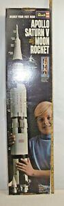 REVELL APOLLO SATURN V GIANT ROCKET MODEL KIT BOXED 1/96 1970 ORIGINAL