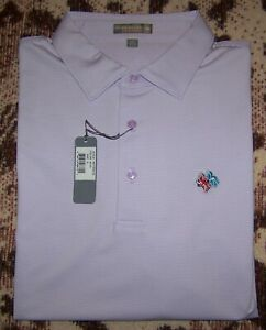 NEW PETER MILLAR SUMMER COMFORT Polo Shirt FREDERICA GOLF CLUB XL Purple TOP 100