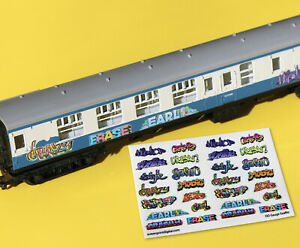 Model Railway GRAFFITI stickers decals HO OO Gauge ideal for coaches, buildings