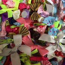 100 mixte de fleur rose nœud mariage applique à coudre décoration Embellissement