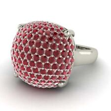 2.50 Ct Ruby Natural Gemstone Wedding Ring Round Cut Real 14K White Gold Size O