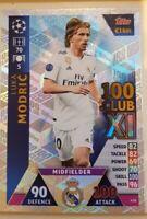 2018/19 Match Attax UEFA Soccer Card - 100 Club Luka Modric #436 Real Madrid