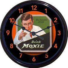 Moxie Man Soda Ad Wall Clock Carbonated Beverage Cure-All New 10""