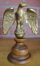 Antique Eagle Figural Finial Topper Brass Gilt Ornate Detailing Decorative Art